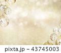 背景-雪-クリスマス-ゴールド-キラキラ 43745003