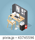 ベクトル 椅子 チェアのイラスト 43745596