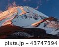 富士山 雪山 冬の写真 43747394