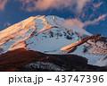 富士山 雪山 冬の写真 43747396