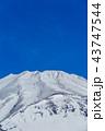 富士山 雪山 冬の写真 43747544