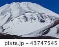 富士山 雪山 宝永火山の写真 43747545