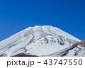 富士山 雪山 冬の写真 43747550