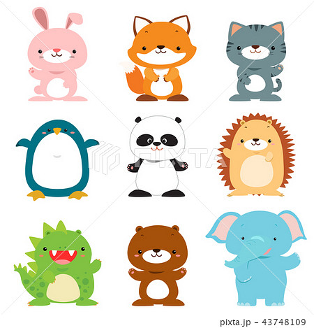 cute animals vector collection 43748109