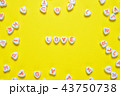 Word love on yellow background 43750738