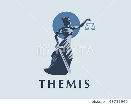 The goddess Themis with a sword. 43751946