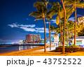 《ハワイ》ワイキキビーチ・夜景 43752522
