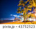《ハワイ》ワイキキビーチ・夜景 43752523