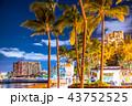 《ハワイ》ワイキキビーチ・夜景 43752525