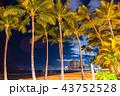 《ハワイ》ワイキキビーチ・夜景 43752528