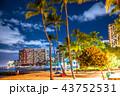 《ハワイ》ワイキキビーチ・夜景 43752531