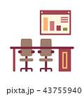 デスク 椅子 チェアのイラスト 43755940