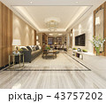 家具 インテリア リビングルームのイラスト 43757202