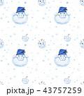 冬 面白い ゆきのイラスト 43757259