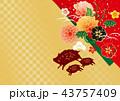年賀状 猪 亥のイラスト 43757409