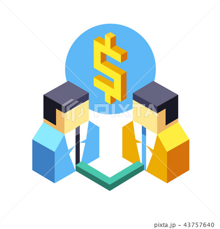 Affiliate marketing Isometric Illustration 43757640