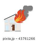 住宅 火事 火災のイラスト 43761266