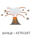 火山 溶岩流 噴煙のイラスト 43761267