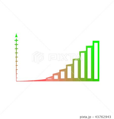 bar chart vector column graph chart templateのイラスト素材