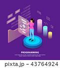 Human Programming Isometric Background 43764924