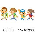 家族 ハイキング トレッキングのイラスト 43764953