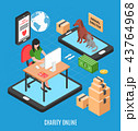Charity Online Isometric Design Concept 43764968