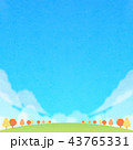 背景素材 秋 広場のイラスト 43765331