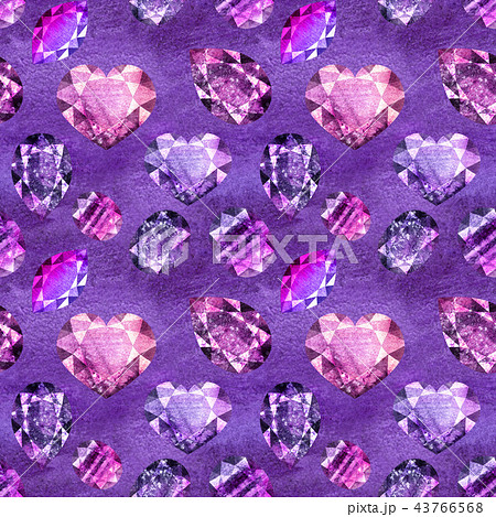 Ultraviolet gems seamless pattern 1 43766568