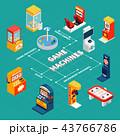Game Machine Isometric Infographics 43766786