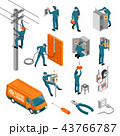 Electrician Isometric Icons Collection 43766787