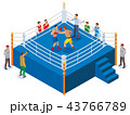 Boxing Ring Isometric Composition 43766789