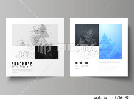 the minimal vector editable layout of two square format covers