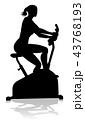 バイク エクササイズ 運動のイラスト 43768193
