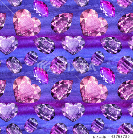 Ultraviolet gems seamless pattern 3 43768789