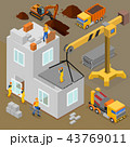 Modern Construction Isometric Composition 43769011