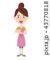 ベクター 思いつく 主婦のイラスト 43770818