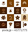 シンボルマーク チョコレート ベクターのイラスト 43771775