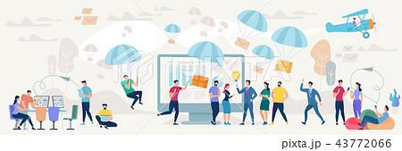 Social Network and Teamwork Vector Concept. 43772066