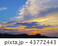 空 雲 夕焼けの写真 43772443