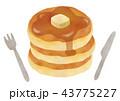 ホットケーキ パンケーキ お菓子のイラスト 43775227