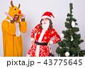 サンタ サンタクロース クリスマスの写真 43775645