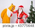 サンタ サンタクロース クリスマスの写真 43775648