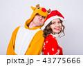 サンタ サンタクロース クリスマスの写真 43775666