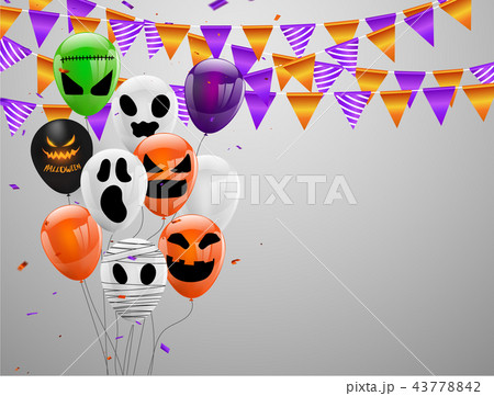 halloween carnival background のイラスト素材 43778842 pixta