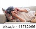 シニア 電話 痛みの写真 43782066