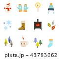 冬のアイコンイラスト セット 43783662