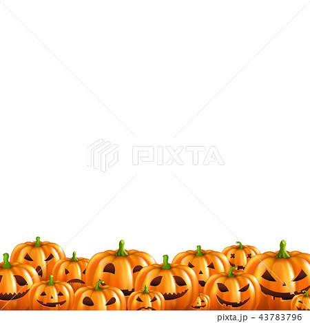 Pumpkin Border White Background 43783796