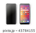 スマートフォン モックアップ ベクタのイラスト 43784155