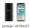 スマートフォン モックアップ ベクトルのイラスト 43784157