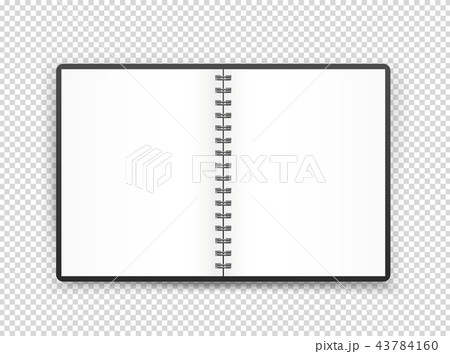 Opened book page illustration. Vector object 43784160